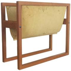 Original 1960s Teak Magazine Rack by Kai Kristiansen for Sika Mobler, Denmark