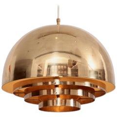 Brass Chandelier or Pendant Light by Vereinigte Werkstätten München