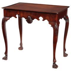 George III Irish Cuban Mahogany Tray Top Silver Table