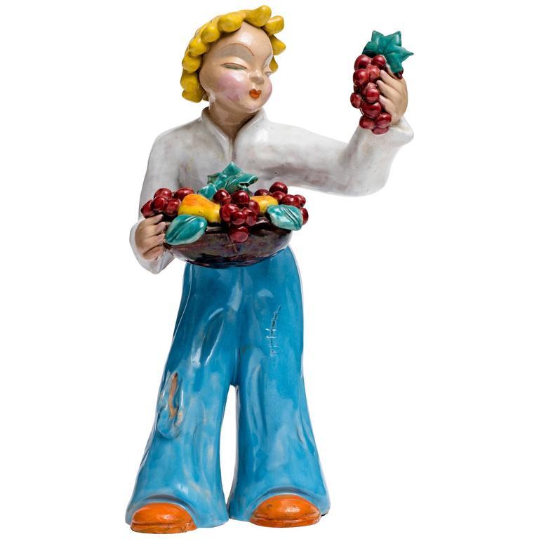 1930s Maria H. Rahmer Figural Ceramic Sculpture