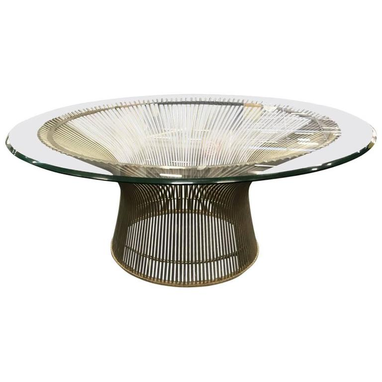 Warren Platner Chrome And Glass Coffee Table At 1stdibs