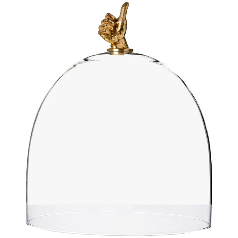 Titled, Top Good Glass and Brass Dome For Sale
