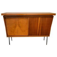Beautiful 1960 Italian Bar Furniture Sliding Door with Lighting