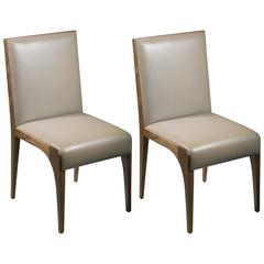 Dining Chairs/Side Chairs in Walnut by Tinatin Kilaberidze