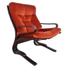 Mid-Century Retro Norwegian Westnofa Lounge Easy Armchair, 1960s