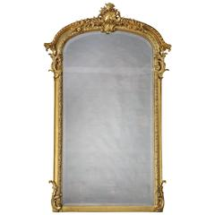 English 19th Century Carved Giltwood Pier Mirror