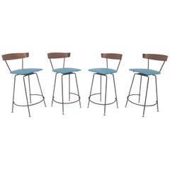 Set of Four Swivel Bar Stools by Clifford Pascoe, circa 1950s