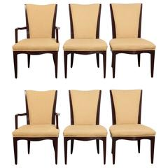 Set of Six Mahogany Dining Chairs by Barbara Barry for Baker