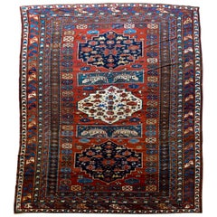Extraordinary Early 20th Century Caucasian Rug
