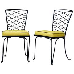 Set of Four Iron Chairs by René Prou, France, circa 1930s