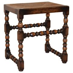 19th Century Turned Rush Top Stool