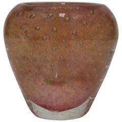Midcentury Italian Murano Barovier Toso Vase Art Glass Vase
