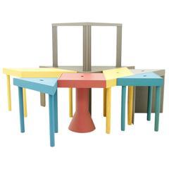 Seltenes Set aus acht Tangram-Tischen für Cassina, 1983