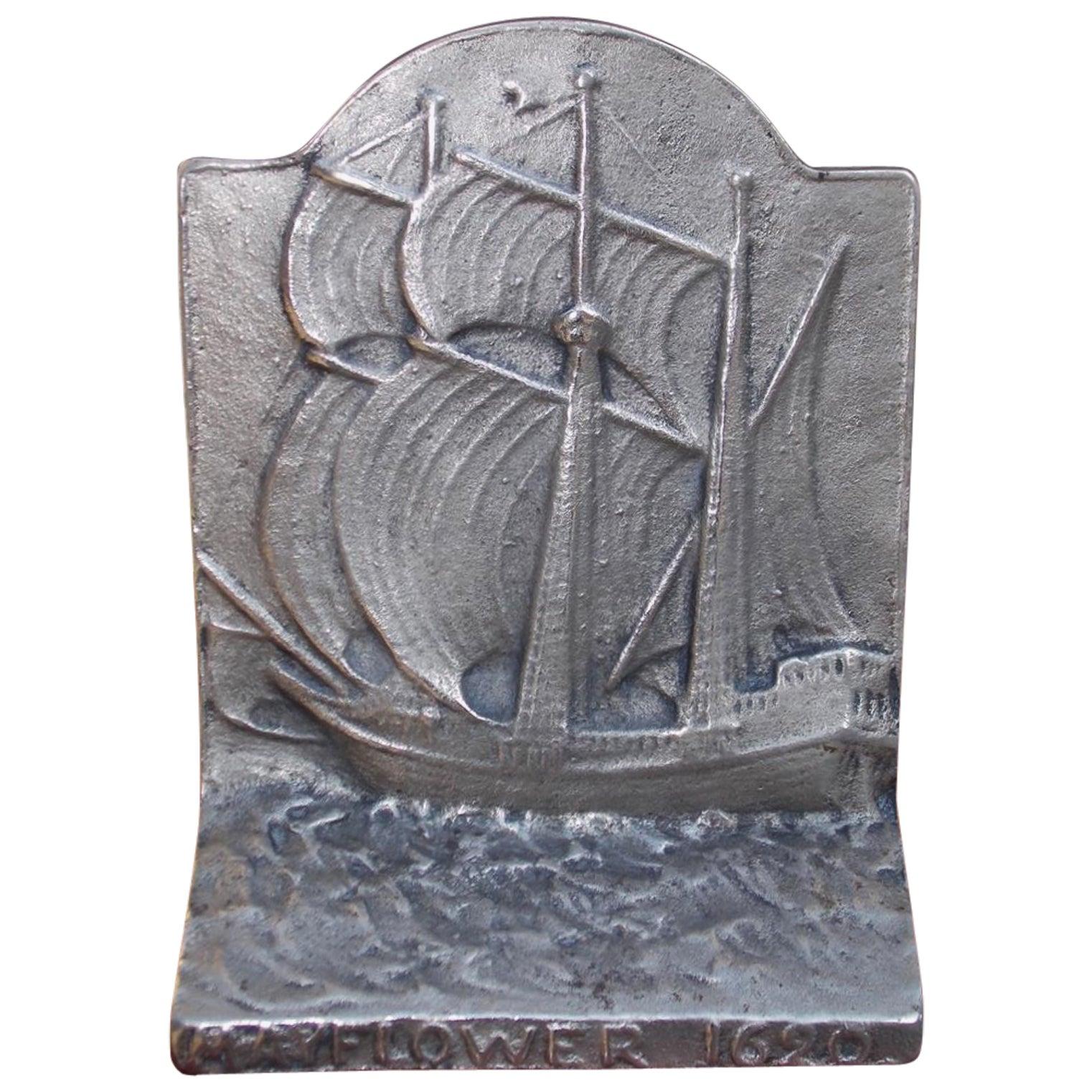 American Cast Iron Sailing Mayflower Doorstop, Circa 1880