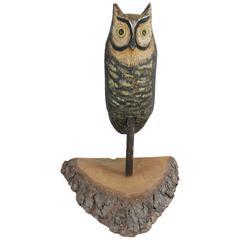 Folk Art Owl Decoy