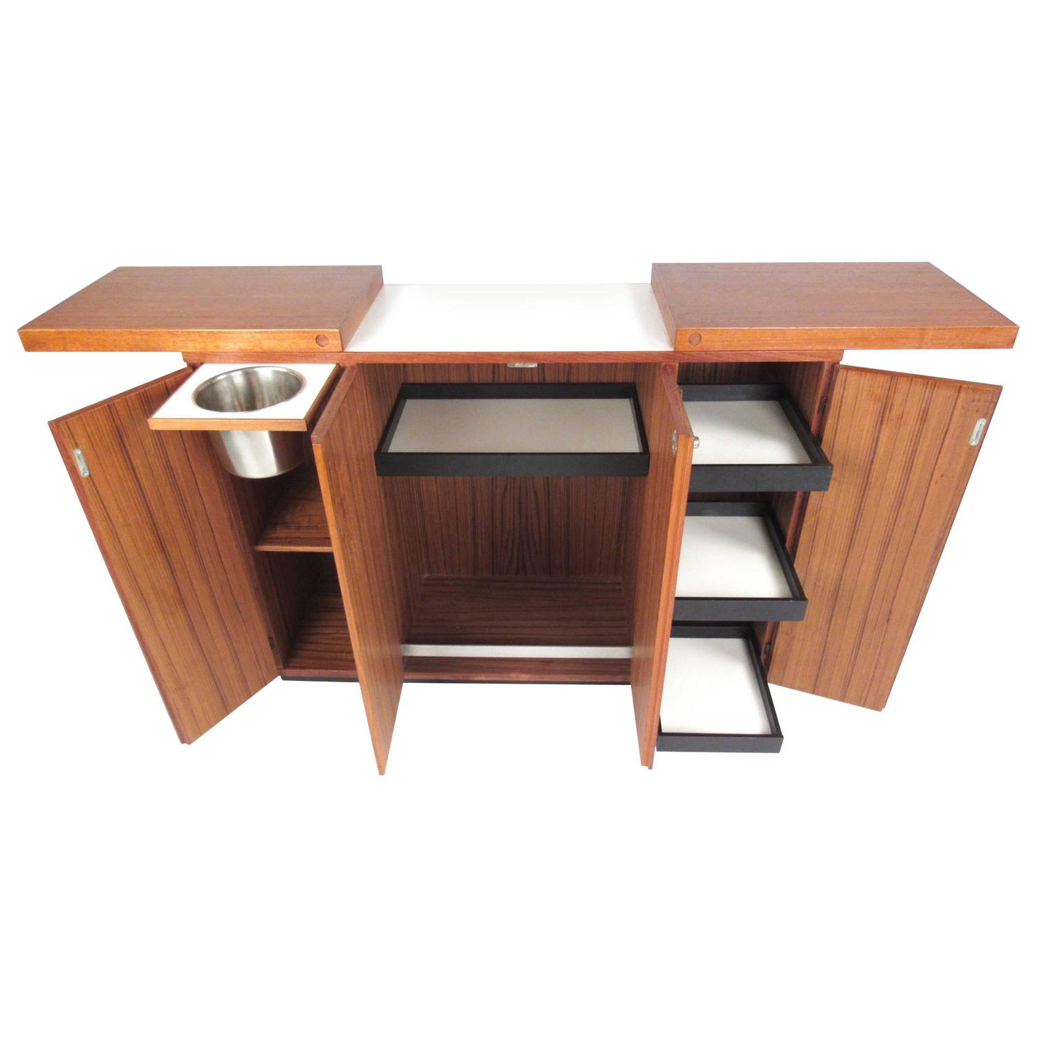 Picture of: Mid Century Modern Danish Teak Expandable Bar Cabinet At 1stdibs