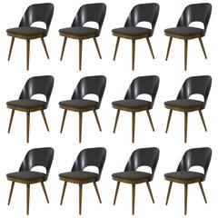 Up to 12 Modernist Chairs in the Style of Oswald Haerdtl, Backhausen, Austria