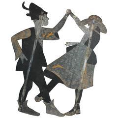Folk Art Barn Dance Advertising Silouhettes