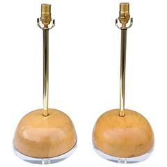 Pair of Minimal Modernist Lamps