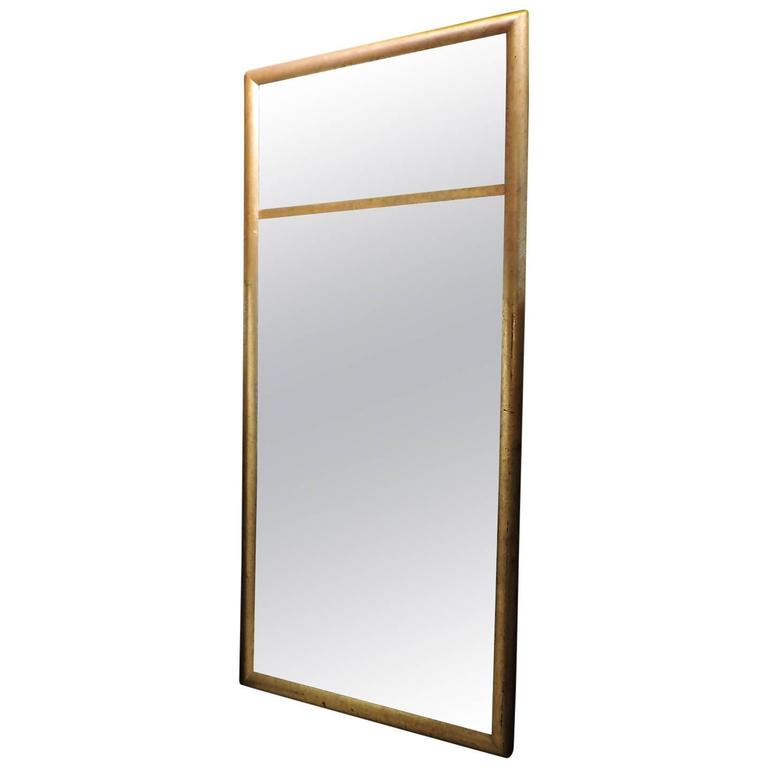 Hollywood regency giltwood tall split panel mirror for for Tall mirrors for sale