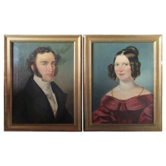 19th Century Pair of Portraits Signed