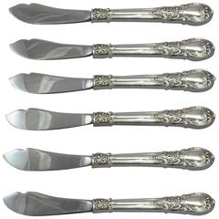"""American Victorian by Lunt Sterling Silver Trout Knife Set 6-Piece 7 1/2"""" Custom"""