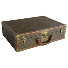 Vintage Louis Vuitton Suitcase, Leather and Brass