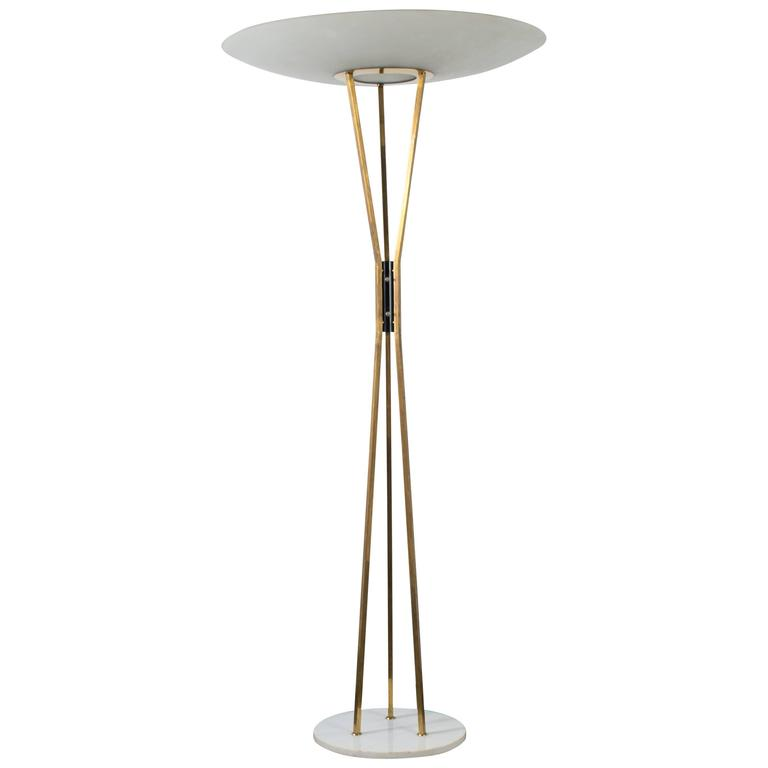 Vintage midcentury floor lamp by gaetano sciolari for for Milan floor lamp antique brass 165cm