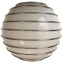 Esperia Space Age 1970s Flush Ceiling Pendant