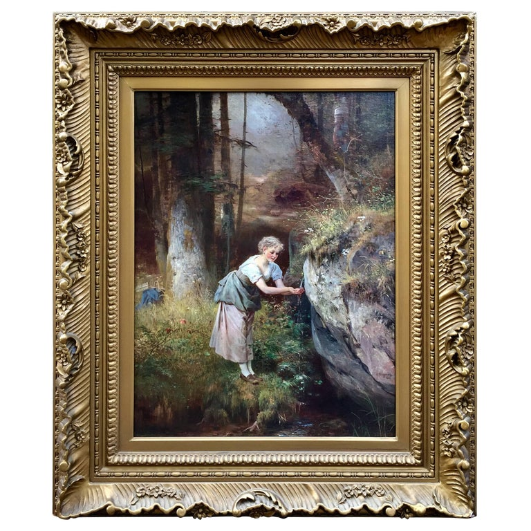 """""""Maiden at the Spring"""" by Anton Heinrich Dieffenbach For Sale"""