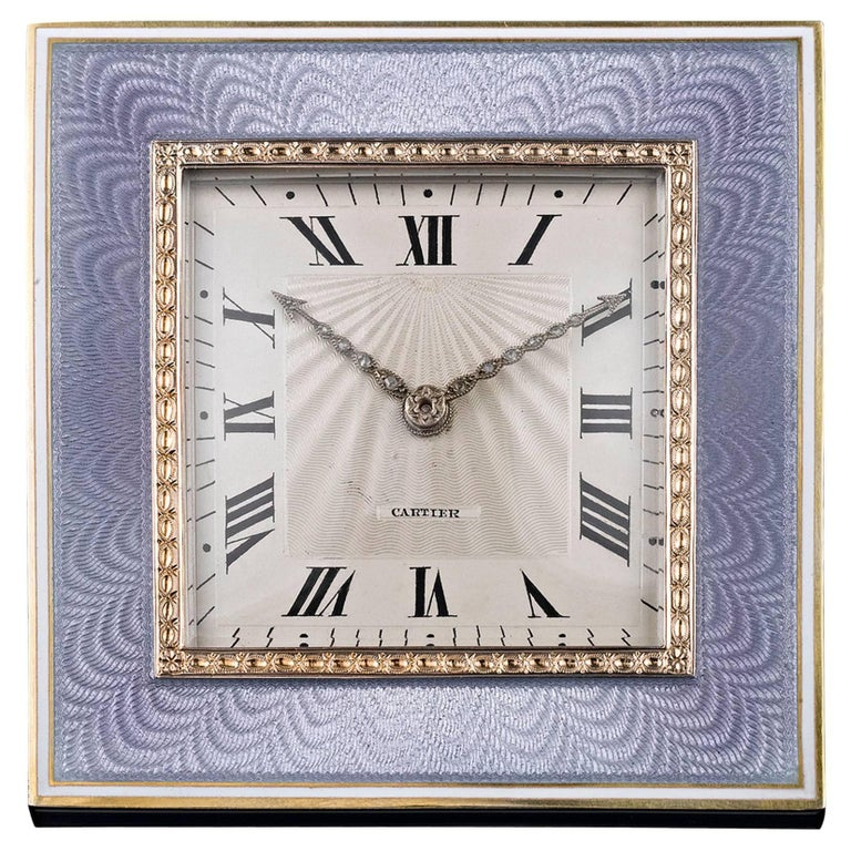Desk Clock by Cartier For Sale