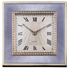 Art Deco Desk Clock by Cartier