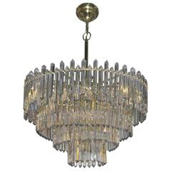 1970 Chandelier with 180 Kristals and 17 Bulbs