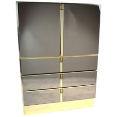 Bronze Mirrored Bar Cabinet by Ello