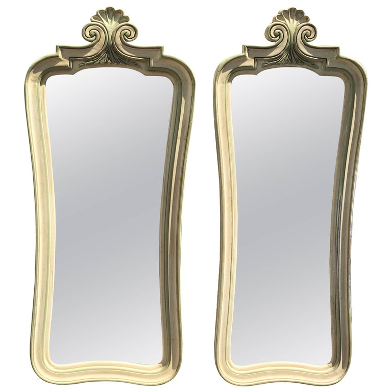Pair of Hollywood Regency Mirrors For Sale