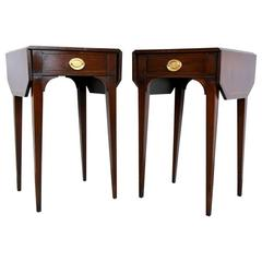 Pair of Sheraton Mahogany Pembroke Tables