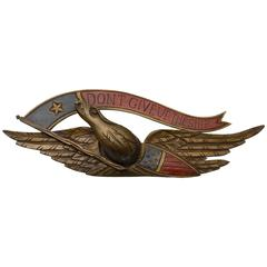 "American Hand-Carved ""Don't Give Up the Ship"" Bellamy Style Eagle"