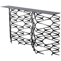 Fenced-In Console by Uhuru Design in Blackened Cast Iron
