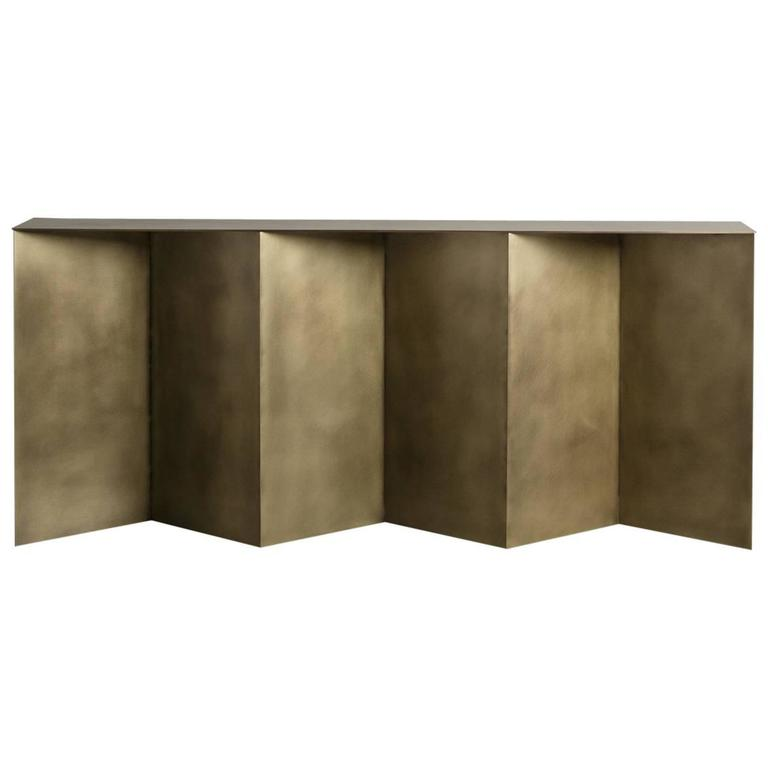 Tack Console by Uhuru Design, Antiqued Brass 1