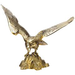 American Eagle Sculpture in Brass, Early 20th Century