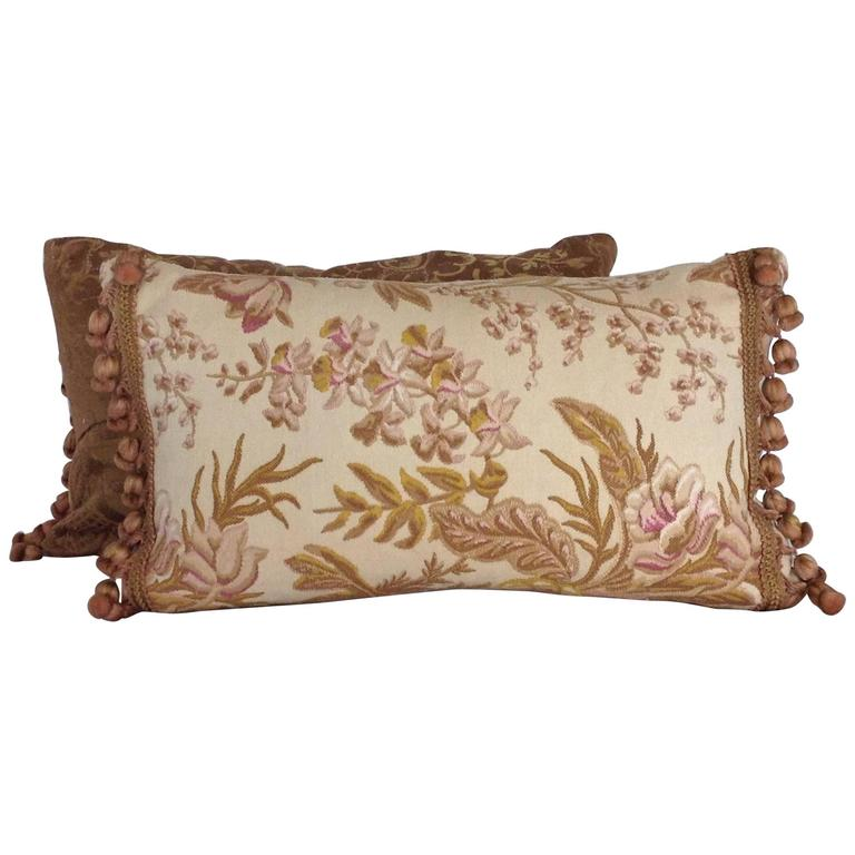 Pair of 19th Century French Accent Pillows with Tassels at 1stdibs