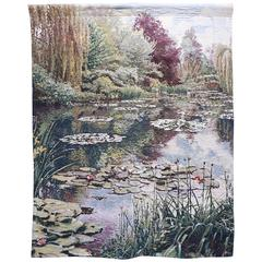 Large Tapestry of Monets Garden