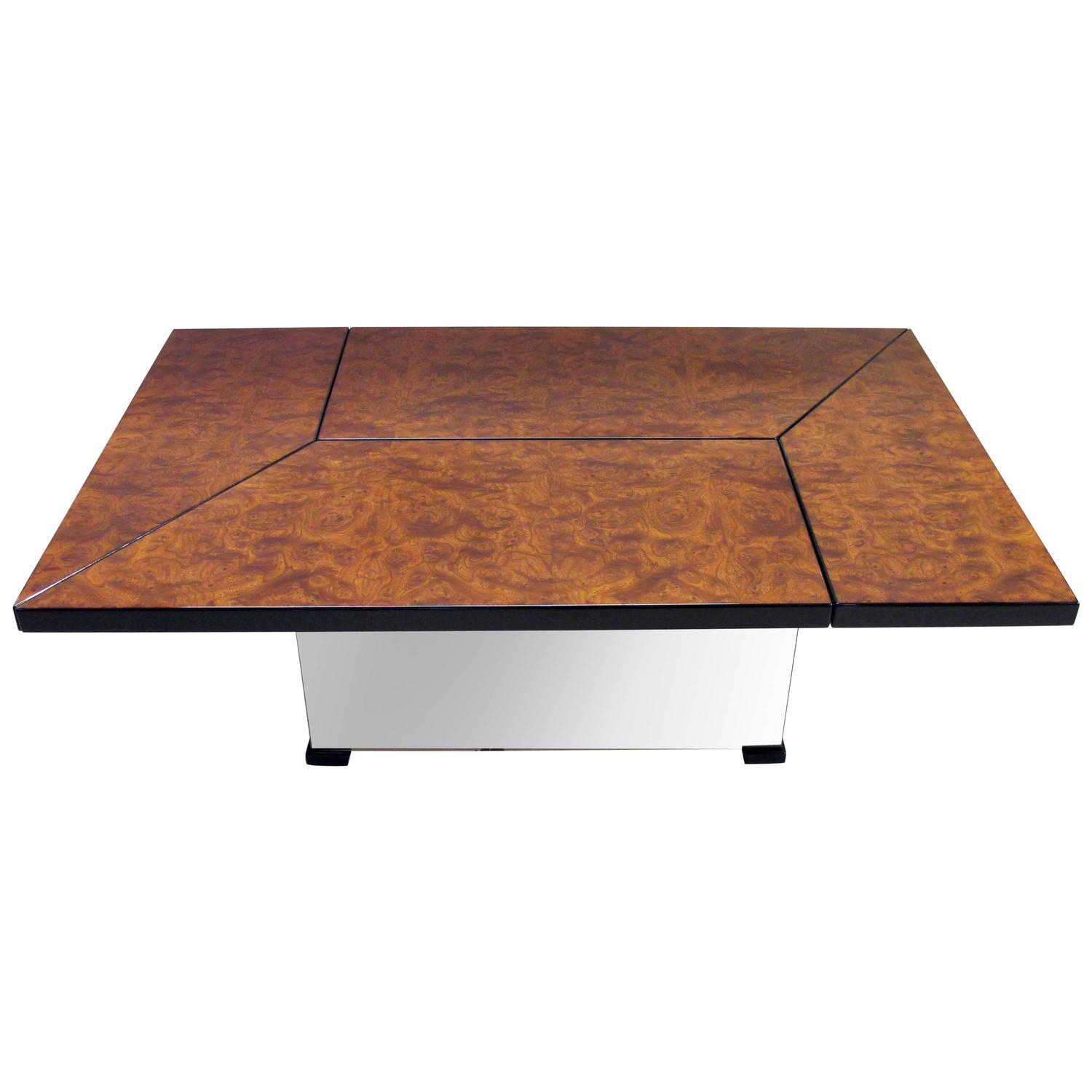 Paul Michel Burl Wood Coffee Table For Sale At 1stdibs # Muebles Curvasa