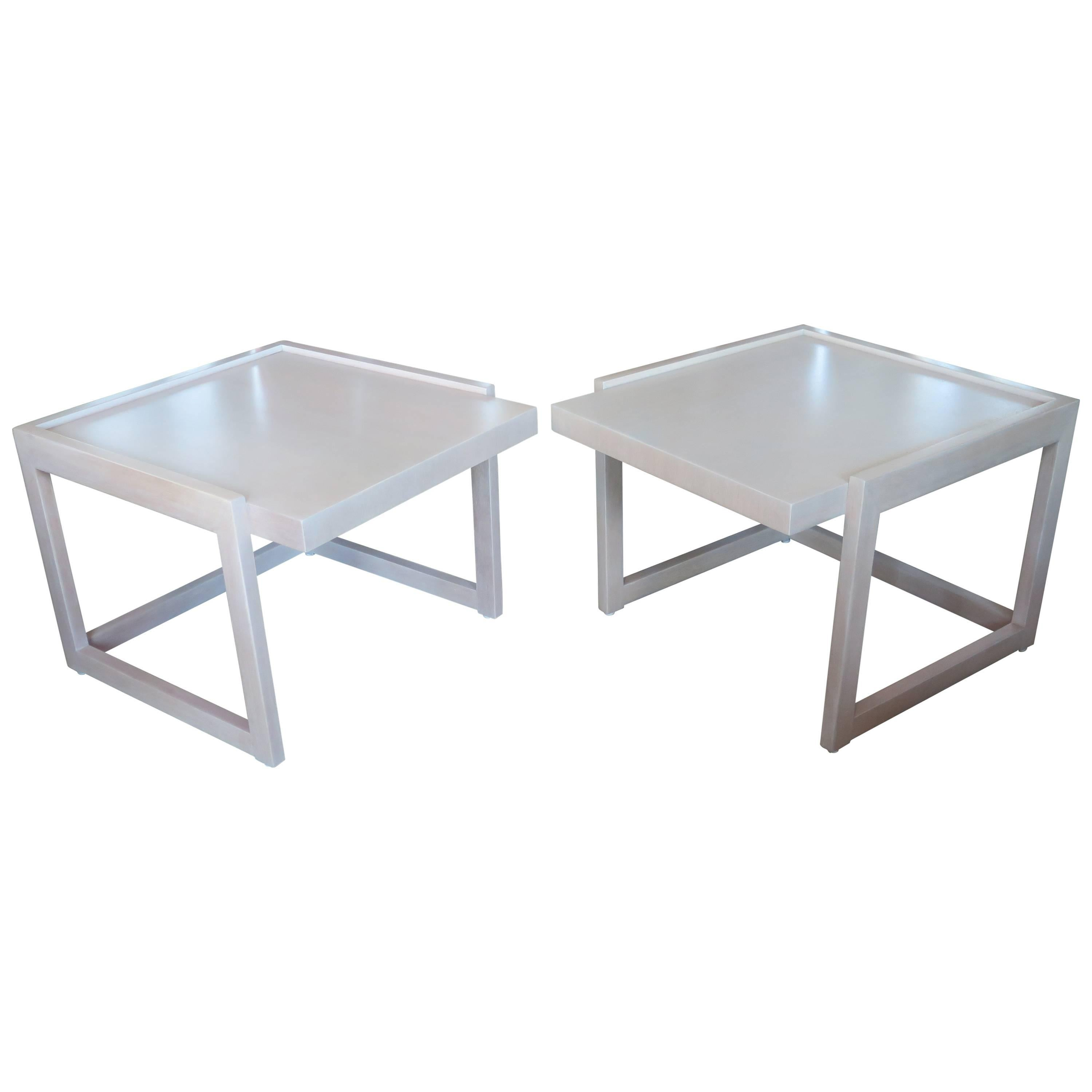 Pair of End Tables by Paul Laszlo for Brown Saltman
