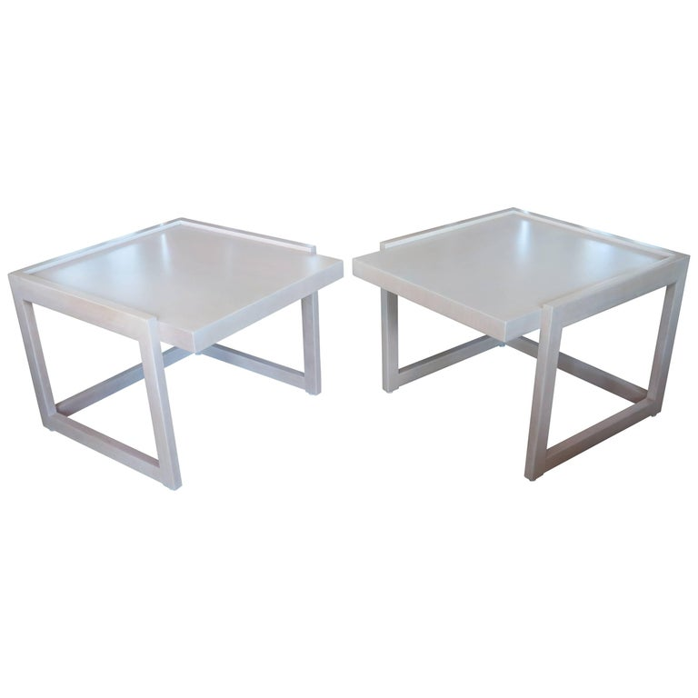 Pair of End Tables by Paul Laszlo for Brown Saltman For Sale