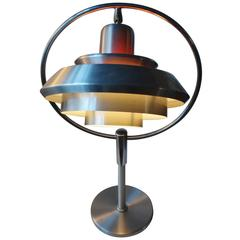 Rare Mid-Century Orbit Table Lamp by Carl Thore for Granhaga, Sweden, 1960s