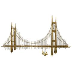 "Curtis Jere Golden Gate ""Bridge"" Sculpture"