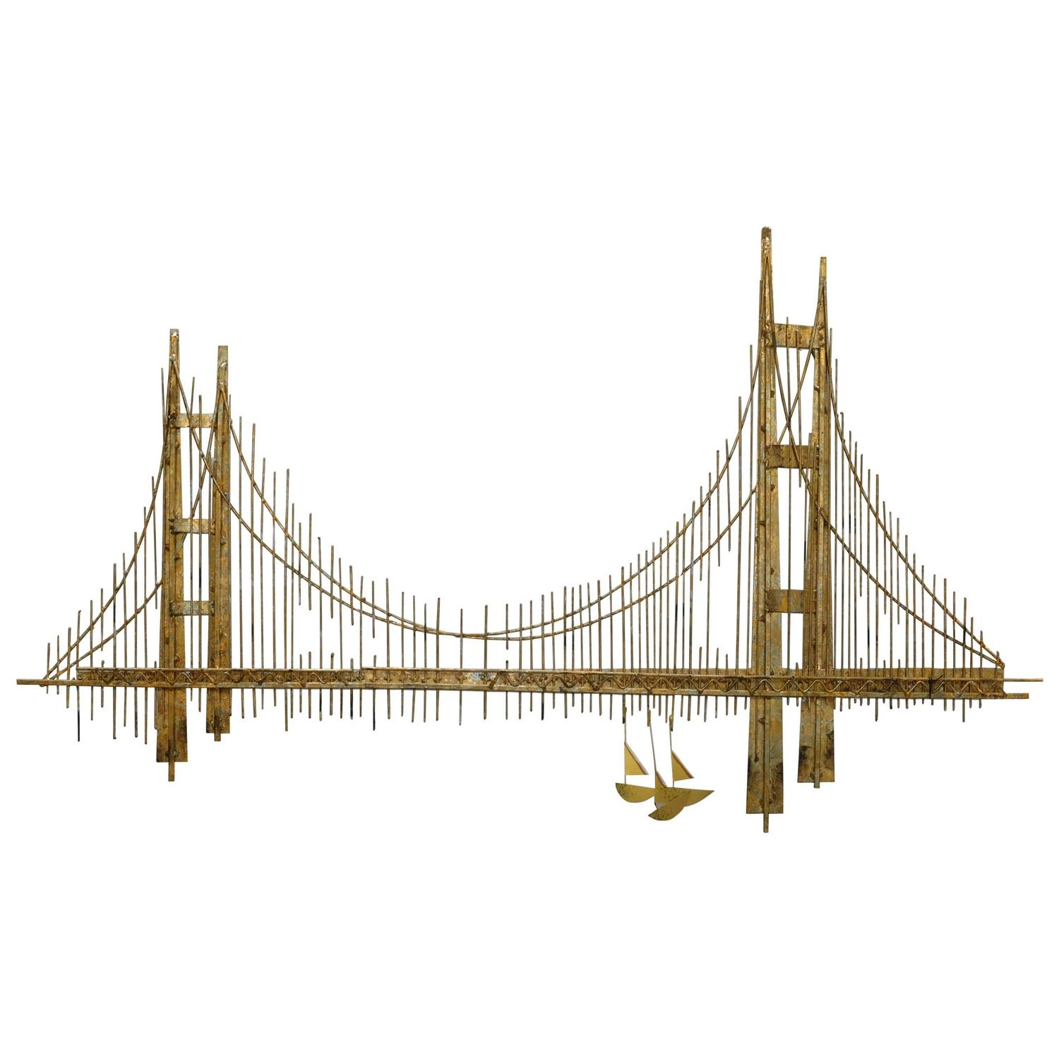 Curtis Jere Golden Gate Bridge Sculpture For Sale At 1stdibs