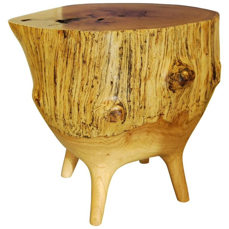 "Vintage Burled Cypress Wood Live Edge Side Table At 1stdibs: ""Live Edge"" Hand-Sculpted Mercury Table At 1stdibs"