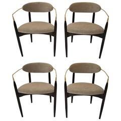 "Set of Four Dan Johnson ""Viscount"" Chairs"